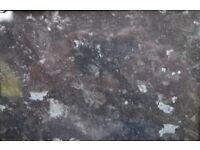Worktops for bathroom x 2 - black slate gloss effect