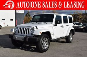 2015 Jeep WRANGLER UNLIMITED Sahara | 2 TOPS | LEATHER | NAVI
