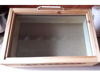 Handmade wooden counter top display box – also ideal for Craft Fairs