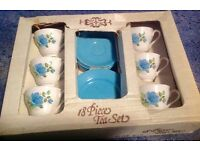 """1960s vintage tea set by """"Tams"""" still in its box! 18 pieces"""