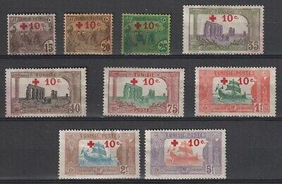 Tunisia Sc #B3 - B11 Complete Semi Postal Set Unused No Gum