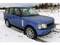 "Range Rover 4.4 V8 LOW MILES 87k Rare CAIRNS BLUE met FSH 20"" alloys cream lthr Oct 17 mot STUNNING!"