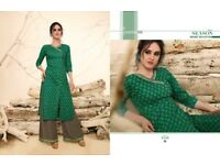 Nice Rangoon Victoria Wholesale Cotton Printed Kurti With Plazzo