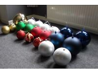 Giant Christmas Baubles - Job Lot - £100 - Glenrothes