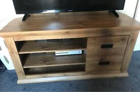 Tv stand with matching side draws