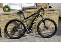 ELECTRIC MOUNTAIN BIKE- KUDOS MISTRAL -BRITISH BY RALLY DESIGN - SHIMANO GEARS / DISC BRAKES-