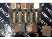 knott 5 KNOTT AVONRIDE TRAILER SPHERICAL WHEEL BOLTS 112x5 M12