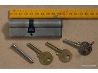 Euro Barrel Cylinder lock 35/10/40 - 40/55 95mm with 3 keys
