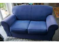 2 Seater Sofa in Blue, Clean and in Good Condition