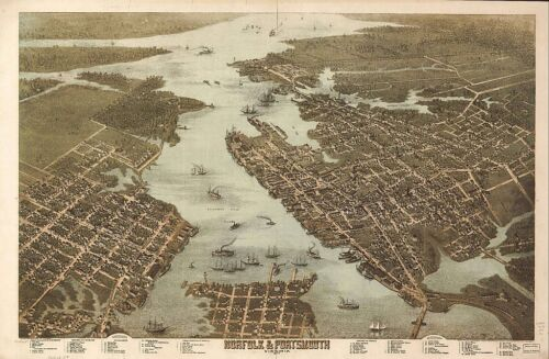 VIRGINIA VINTAGE PANORAMIC MAPS COLLECTION ON CD