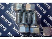 GENUINE knott 12x1,5 25mm 4 KNOTT AVONRIDE TRAILER WHEEL SPHERICAL NUT BOLT