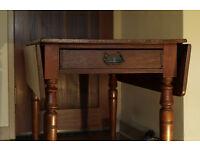 Victorian pembroke table circa 1860 (free delivery in midlothian) vintage / antique