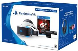 PlayStation vr with camera and grandtrismo and resident evil bio hazard vr