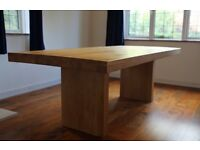 Dining room table (John Lewis), solid oak, 8 seater