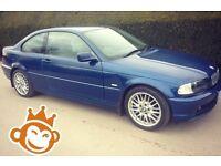 BMW 318CI 2000 M SPORT ALLOYS 318 I PETROL 320 CI I NOT 320D 3 SERIES