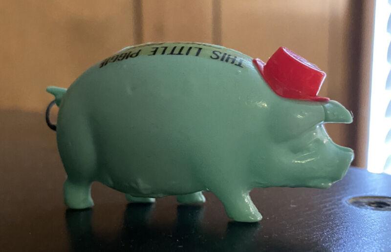Vintage Pig Hog BLUE Sewing Retractable Tape Measure REd Hat JAPAN