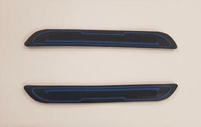 2 X BLACK RUBBER DOOR MIRROR GUARD PROTECTORS BLUE INSERT DG5 MOTORB