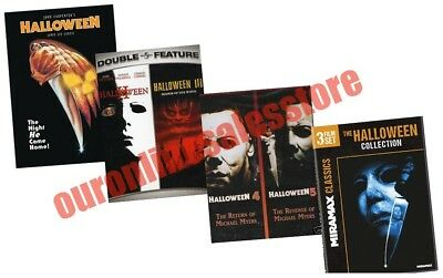 Halloween Film Series Complete Movie Collection All 1-8 DVD Set 1978-2002 Horror