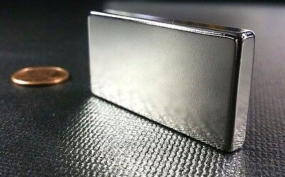 1 One Large Neodymium N52 Block Magnet Super Strong Rare Earth 2 X 1 X 14