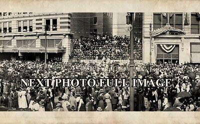 "1910 Mardi Gras New Orleans LA Vintage Panoramic Photograph 43"" Long"