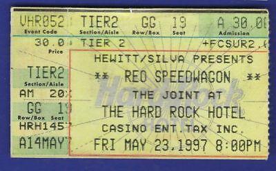 REO Speedwagon Concert Ticket Stub Hard Rock Hotel May 23 1997