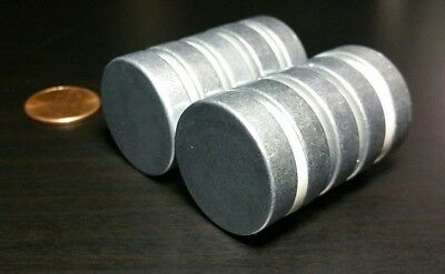 10 Large Neodymium Rare Earth Magnet Disc 1 X 14 Super Strong High Heat Grade