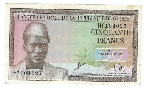 Guinee - Fifty (50) Francs,  1960