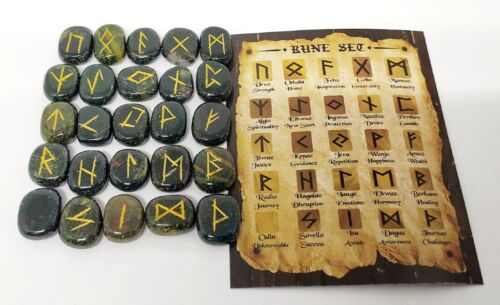 Bloodstone Rune Sets Elder Futhrak Set comes with black Pouch and rune card