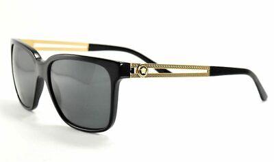 Versace Sunglasses 4307 GB1/87 Black Gold / Gray Lenses