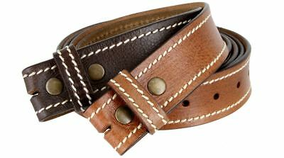 Leather Jean Casual Belt - Genuine Leather Casual Jean Belt Strap 1-1/2