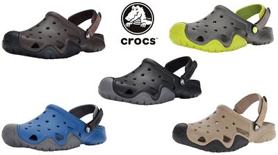 Men's Crocs Swiftwater Clog Mule Sandal Adjustable Heel Stra