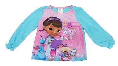 Doc McStuffin Pink Blue Pajamas Top Shirt  Little Girls Kids Toddler 2T, 3T - Doc Mcstuffin Pjs