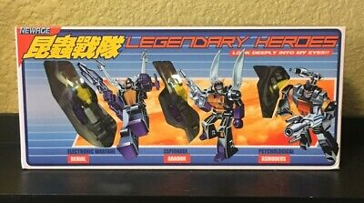 NewAge Transformers Warrior Heroes H10+ H11+ H12+ Insecticon Set Toon US seller