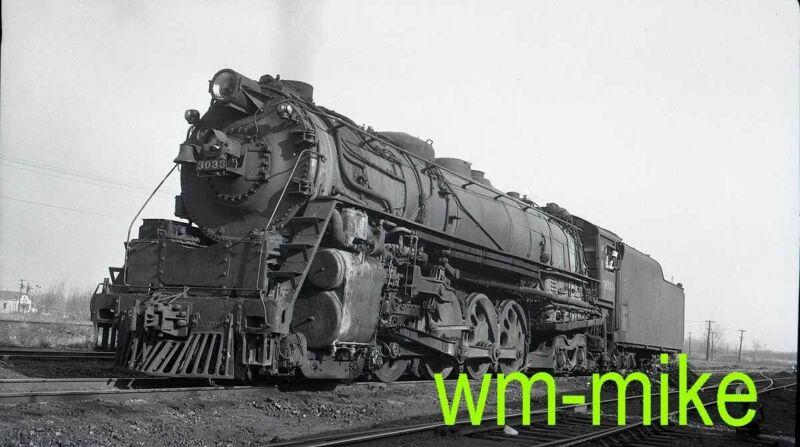 #B-071 CNW C&NW 4-8-4 steam #3033 ORIGINAL B&W Negative