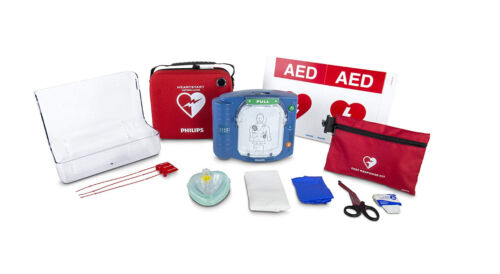 Philips HeartStart Home AED Defibrillator Value Package with Slim Carry Case NIB