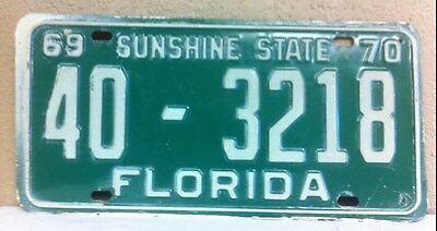 1969/1970 FLORIDA License Plate (40-3218)