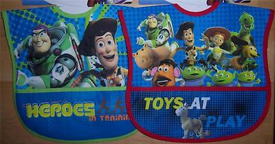 2 new toddler toy story pocket bibs