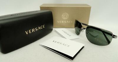 Versace Greek Key Sunglasses with Box. Case, New & AUTHENTIC