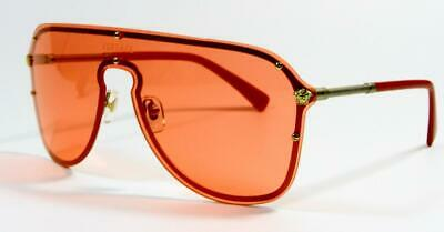 Versace Shield Pilot VE2180 Pink Lenses Sunglasses New and Authentic