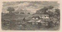 C1273 Brazil - Vue Du Hameau De Tahua-miri Sur Le Lac Coary - 1867 Engraving -  - ebay.it