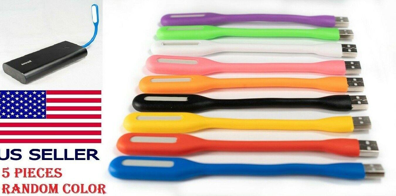 5 PCS Flexible Bright Mini USB LED Light Lamp Notebook Laptop Desk Radom Colors Computers/Tablets & Networking