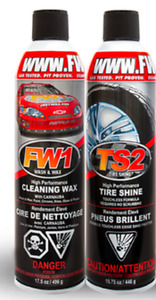 FW1 Wax + TS2 Tire Shine (up to 24 cans of each available)