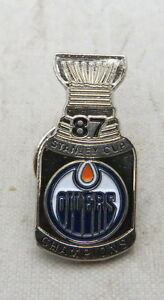 Vintage Edmonton Oilers Stanley Cup Pins @ Auction No Reserves
