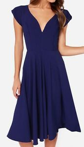 NEW ROYAL BLUE MIDI DRESS