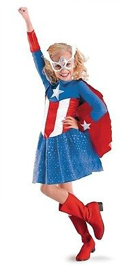 Captain America Dream Girl Classic Child Costume SIZE - Miss Marvel Kostüme