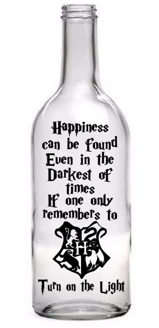 Wine Bottle Vinyl Decal Sticker Harry Potter Quote Light Bot