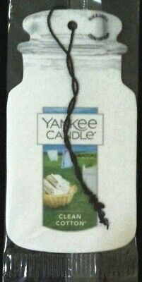 Yankee Candle Fragrance-Infused Car Jar Air Freshener Clean Cotton