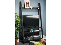 black TV Ladder Stand Unit New