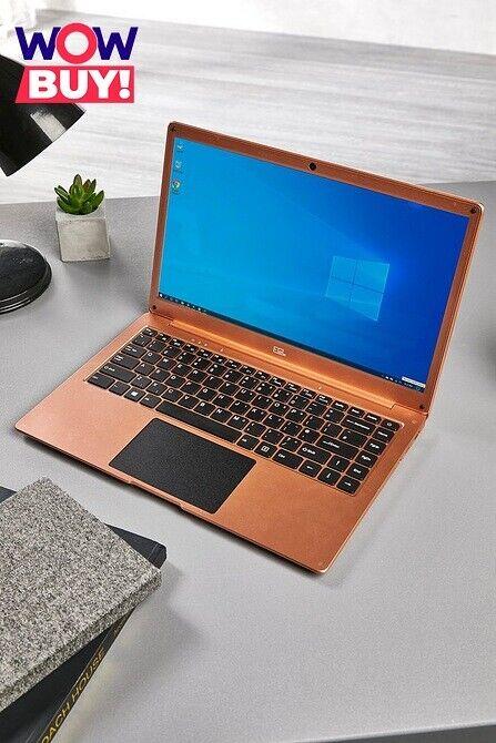 "Laptop Windows - 14"" FAST CHEAP WINDOWS 10 LAPTOP N3350 WiFi 3GB + 64GB ROSE GOLD 0731 Ref"