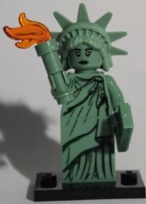Lego Minifigure Series 6 Lady Liberty W/ Stand And Accessories, No Bag Brand New